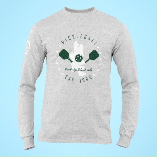 Bainbridge Island long sleeve pickleball t-shirt - Picklesphere.com.