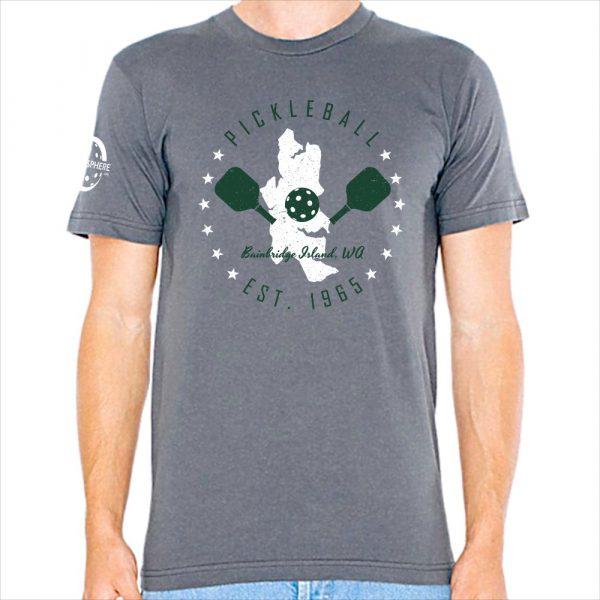 Bainbridge pickleball t-shirt, slate - Picklesphere.com.