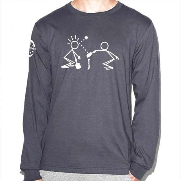 Stick figures long-sleeve t-shirt - Picklesphere.com.