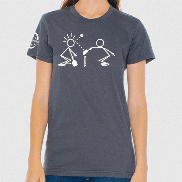 Stickmen t-shirt, slate - Picklesphere.com.