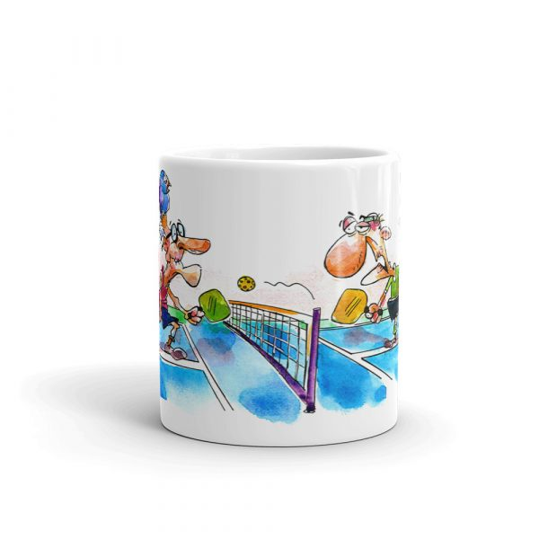 Pickleball coffee mug - geriatric pickleballers - Picklesphere.com.