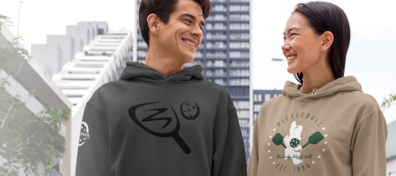 Pickleball hoodies couple - Picklesphere.com.