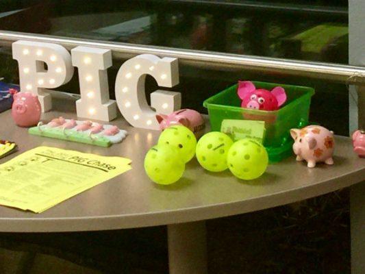 Pickleball Is Great tournament desk - Picklesphere.com.